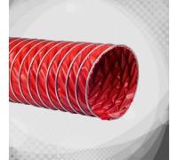 Високотемпературний вентиляційний гофрорукав з силікону (К10)